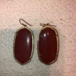 Maroon earrings
